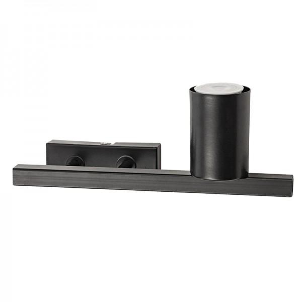 Επιτοίχιο φωτιστικό από μαύρο μέταλλο (43309-R-Μαύρο)