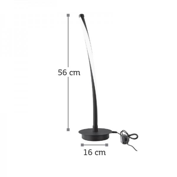 Επιτραπέζιο φωτιστικό από αλουμίνιο σε μαύρη απόχρωση (3464-Μαύρο)
