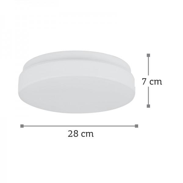 Πλαφονιέρα οροφής από λευκό μέταλλο και λευκή οπαλίνα (42096-Α-Λευκό)