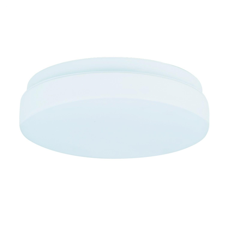 Πλαφονιέρα οροφής από λευκό μέταλλο και λευκή οπαλίνα (42096-Γ-Λευκό)