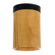 Σποτ σταθερό από ξύλο και μαύρη βάση (42158-Μαύρο)