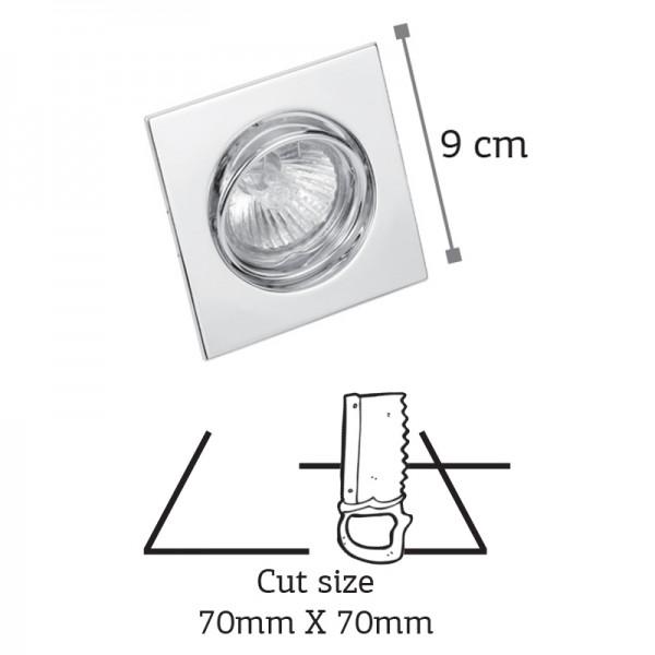 Χωνευτό σποτ από λευκό μέταλλο (43278-Λευκό)