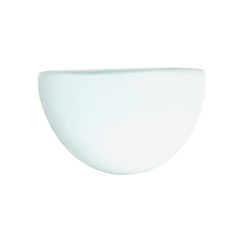 Επιτοίχιο φωτιστικό από λευκό μέταλλο και λευκή οπαλίνα (43342-Λευκό)