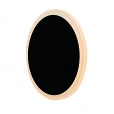 Επιτοίχιο φωτιστικό από αλουμίνιο σε μαύρη απόχρωση (43400-BL)