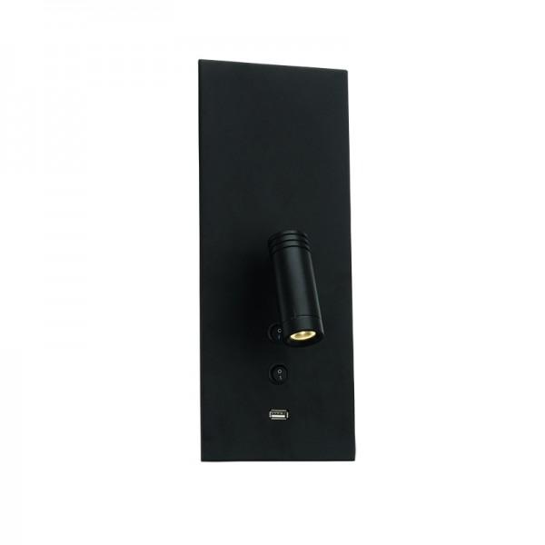 Επιτοίχιο φωτιστικό από μαύρο μέταλλο (43403- Μαύρο)