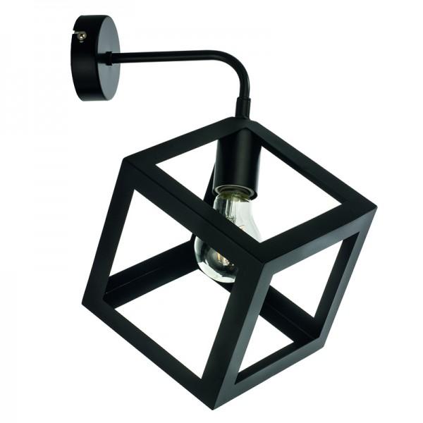 Επιτοίχιο φωτιστικό από μαύρο μέταλλο (43411-Μαύρο)
