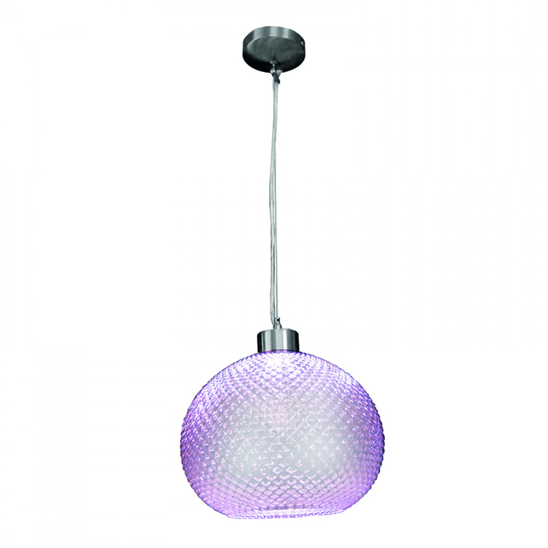 Κρεμαστό φωτιστικό από μοβ γυαλί (4484-Μοβ)