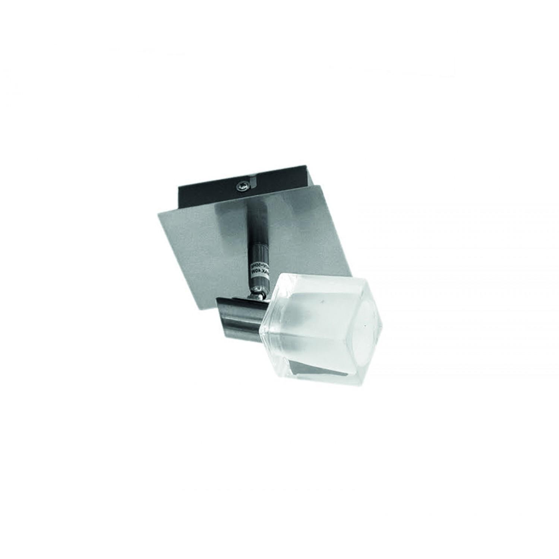 Επιτοίχιο σποτ από μέταλλο σε νίκελ ματ απόχρωση (9048-1Φ-Νίκελ Ματ)