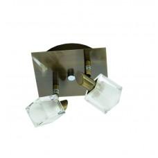 Επιτοίχιο σποτ από μέταλλο σε οξυντέ απόχρωση (9048-2Φ-Οξυντέ)