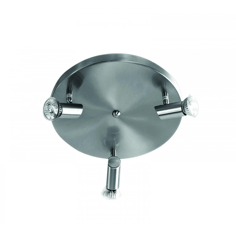 Επιτοίχιο σποτ από μέταλλο σε νίκελ ματ απόχρωση (9075-3Φ-Νίκελ Ματ)