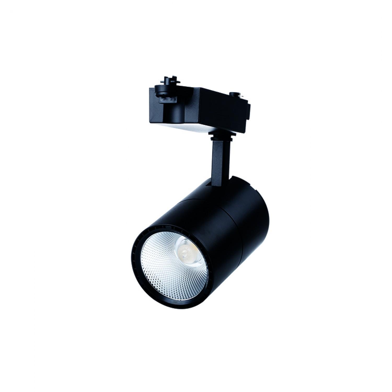 Σποτ Ράγας Μαύρο LED 30watt 3000K Θερμό Λευκό (Τ00201-ΜΑΥΡΟ)