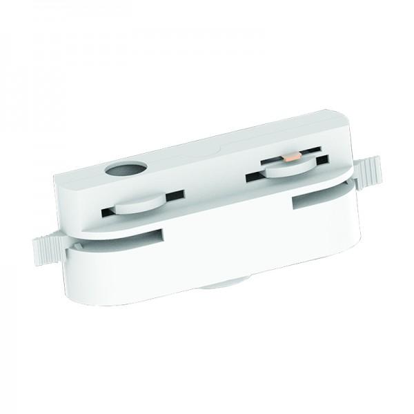 Βάση λευκή για μονόφωτο μονοφασική ράγα (TC005-Λευκό)