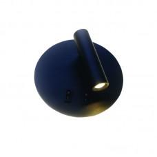Επιτοίχιο φωτιστικό από μαύρο μέταλλο (43418-BL)