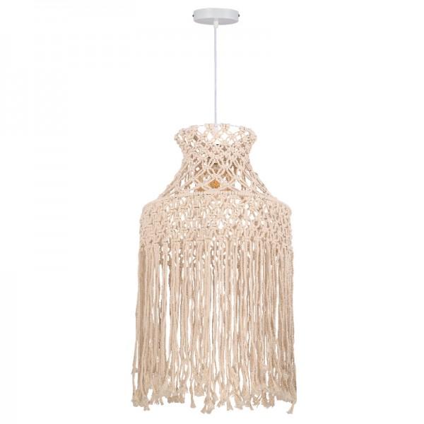 Κρεμαστό φωτιστικό woolen μπεζ (4531)