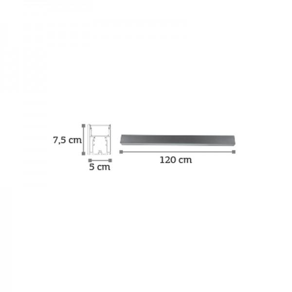 Κρεμαστό φωτιστικό από αλουμίνιο σε μαύρη απόχρωση (6172-120-BL)