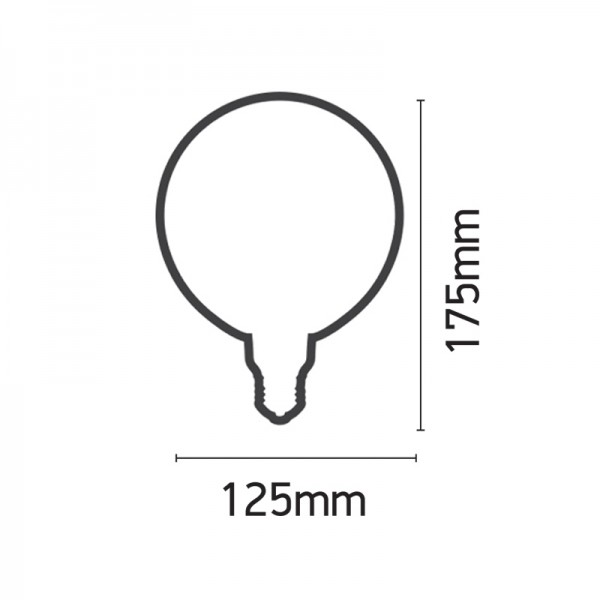Ε27 LED Filament G125 Pineapple 6watt Dimmable με μελί κάλυμμα