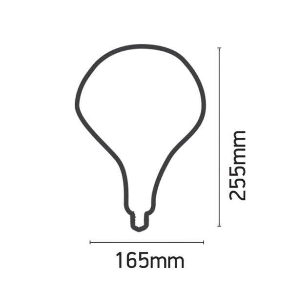 Ε27 LED Filament PS165 4watt Dimmable με μελί κάλυμμα