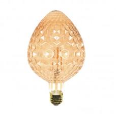 E27 LED Filament G125 Strawberry 6watt Dimmable με μελί κάλυμμα (7.27.06.30.1)