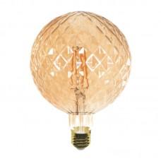 Ε27 LED Filament G125 Pineapple 6watt Dimmable με μελί κάλυμμα