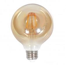 Ε27 LED Filament G125 10watt με μελί κάλυμμα (7.27.10.28.1)