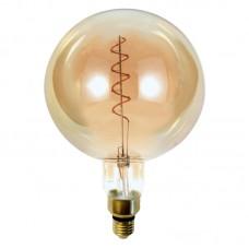 Ε27 LED Filament G200 6watt Dimmable με μελί κάλυμμα (7.27.06.33.1)