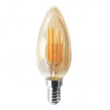 Ε14 LED Filament C35 5watt Dimmable με μελί κάλυμμα (7.14.05.20.1 )