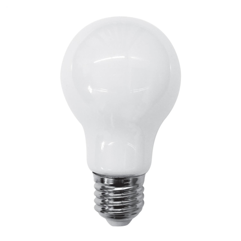 Ε27 LED Filament A60 8watt με γαλακτερό κάλυμμα