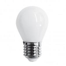 Ε27 LED Filament G45 5watt με γαλακτερό κάλυμμα (7.27.05.38.1)