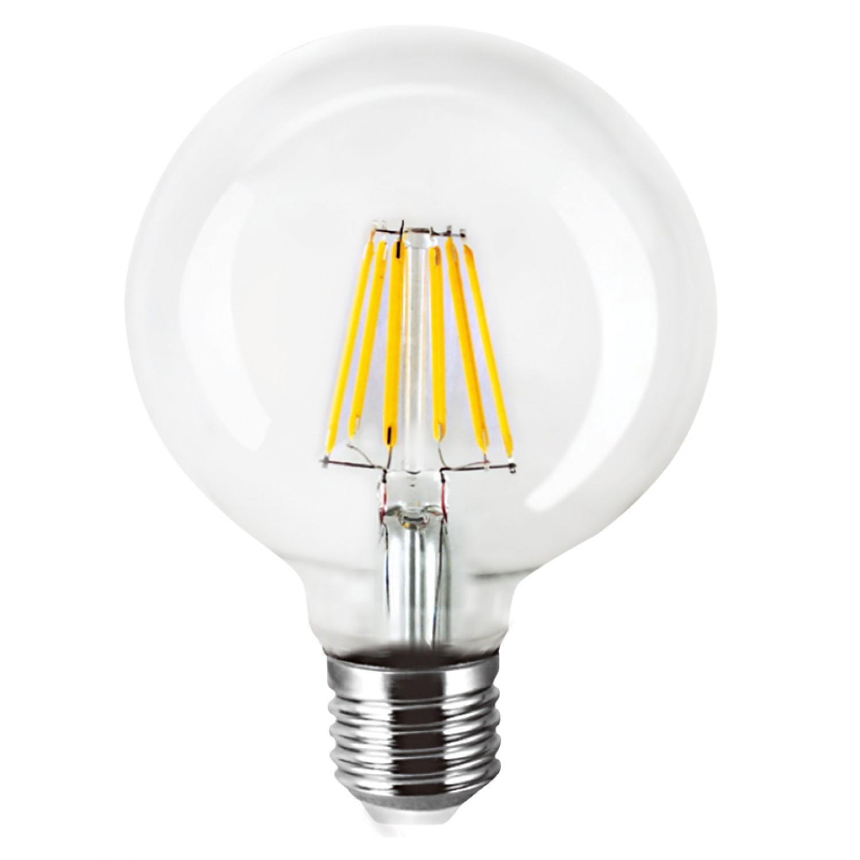 E27 LED Filament G95 8watt Dimmable