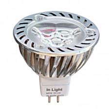MR16 3X1watt 6500Κ Ψυχρό Λευκό (7.16.03.03.3)
