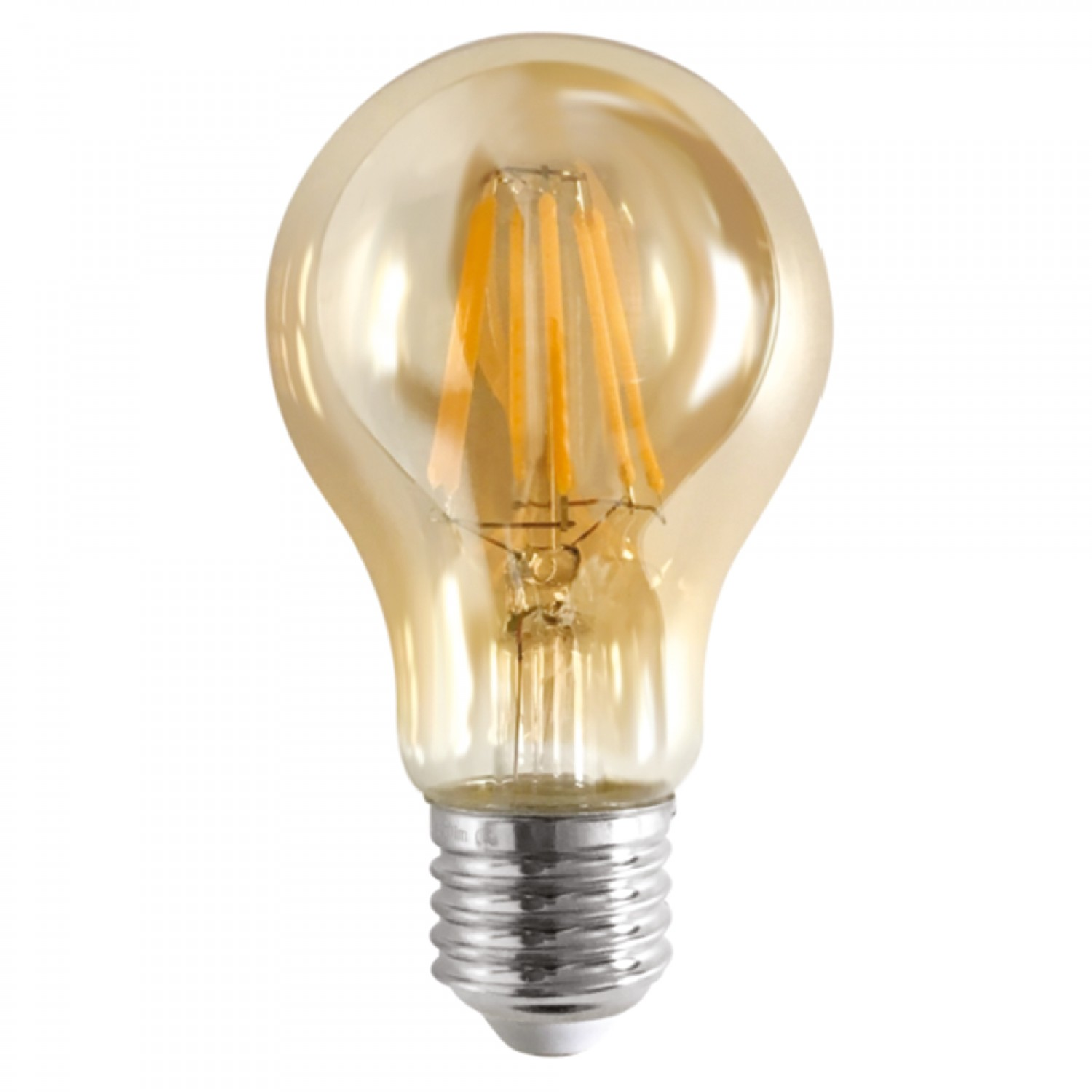 E27 LED Filament A60 8watt Dimmable με μελί κάλυμμα