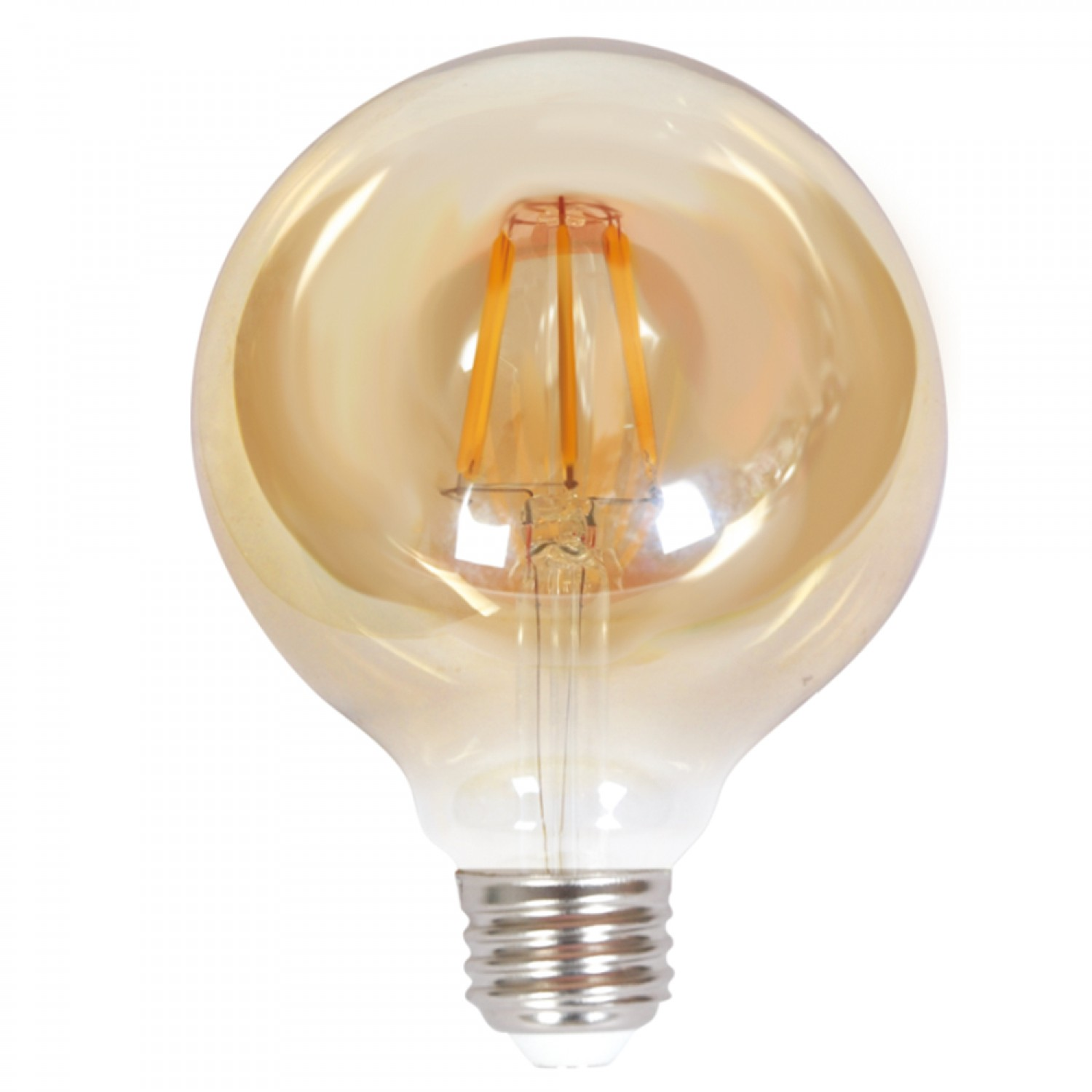 E27 LED Filament G95 8watt Dimmable με μελί κάλυμμα