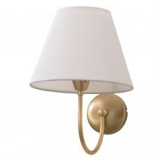 Επιτοίχιο φωτιστικό από μέταλλο σε χρυσή ματ απόχρωση και υφασμάτινο καπέλο (43022-Χρυσό Ματ)