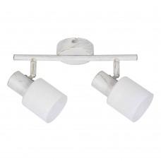 Επιτοίχιο σποτ από μέταλλο σε απόχρωση λευκής πατίνας (9079-2Φ-Λευκή Πατίνα)