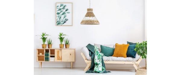 Τα φωτιστικά με μπαμπού και ρατάν είναι το σήμερα του interior design