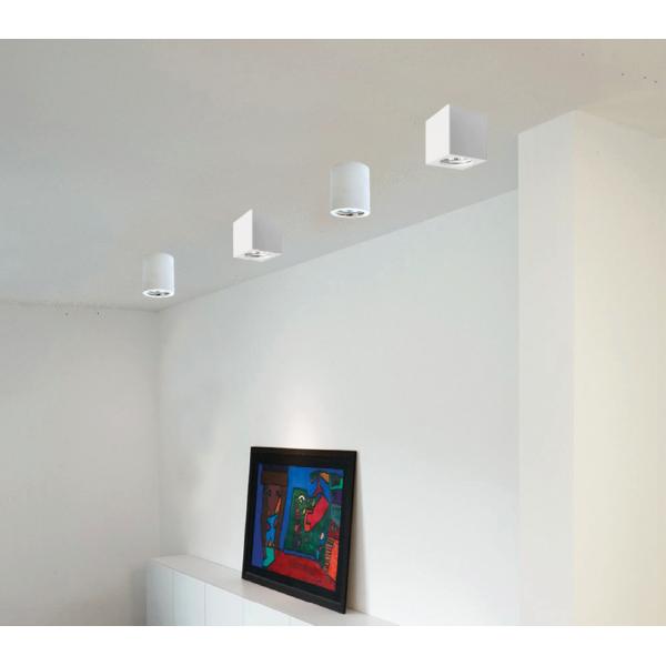 Φωτιστικό οροφής λευκό από γύψο (42166-Λευκό)